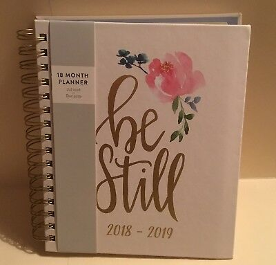 2019 Eccolo Weekly / Monthly Agenda Planner Planning Calendar - BE STILL