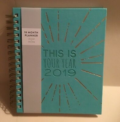 2019 Eccolo 18 Months Weekly Monthly Agenda Planner Calendar - This is Your Year