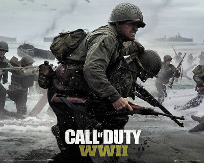 Poster Call Of Duty Stronghold - WW2 - Beach - Quer (game) 50x40cm NEU z500