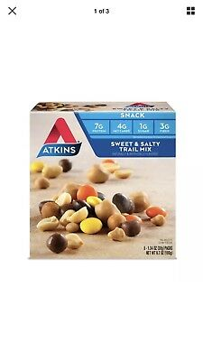 Atkins Snack Bar - Sweet & Salty Trail Mix, 5 Count