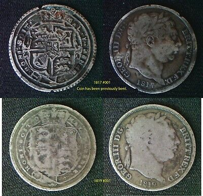 King George III Sixpence supplied in coin wallet READ DESCRIPTION