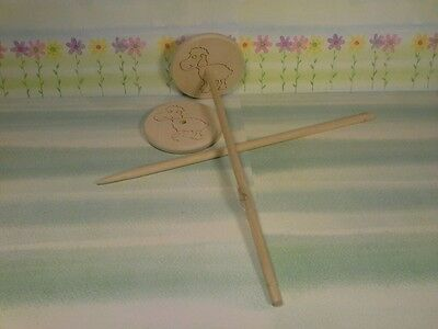 Hand Spindle Sheep Spindle 8x30cm only 31g for Spiders from Wool Hand Spindle