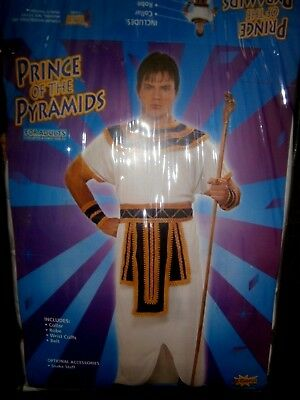 Halloween Costume New Adult Deluxe Egyptian Prince Robe Chest Up To 42 Inches