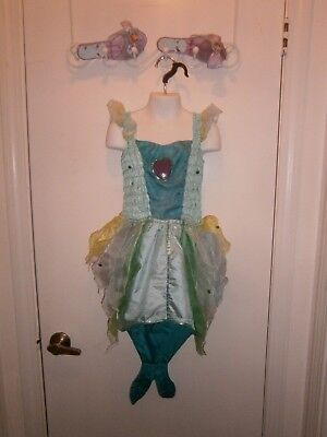 Halloween Costume Disney Ariel Shoes & Mermaid Dress  Size 4-6