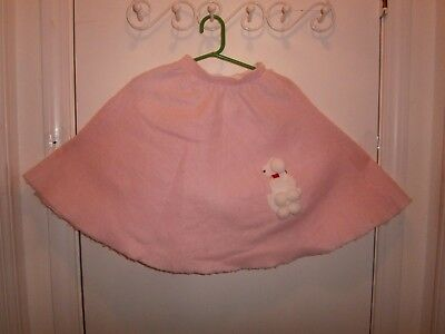 Halloween Costume Child Pink Poodle Skirt & Scarf Size S/M  50's