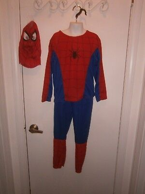 Halloween Costume Child Spiderman 2 Piece Suit & Mask Size Large