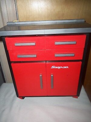 """Toy Rolling Snap-On Tool Chest W/extras ~ 12""""h ~ Drawers + Cabinet Opens ~ Rare"""
