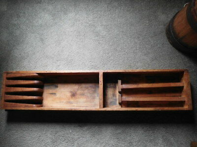 Old Antique Wooden Fancy Drawer for Tool Box or Chest-33 Inch