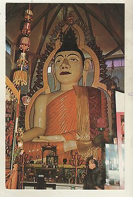 SINGAPORE - LORD BUDDHA IMAGE, TEMPLE in RACE COURSE ROAD Postcard *