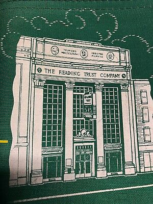 green READING TRUST COMPANY vintage bank coin bag Reading, PA unused A Rifkin