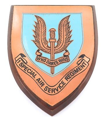 1960s / 1970s RHODESIAN 1 SPECIAL AIR SERVICE REGIMENT SAS PLAQUE. 100% GENUINE!