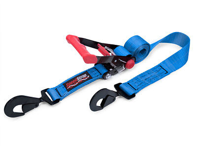 Speed Strap 2″ x 8′ Rachet Tie Down w/ Twisted Snap Hooks Wide 3300lb Blue
