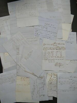 1849 - 80 Antique Manuscript Letters Written To The Providence Tool Company