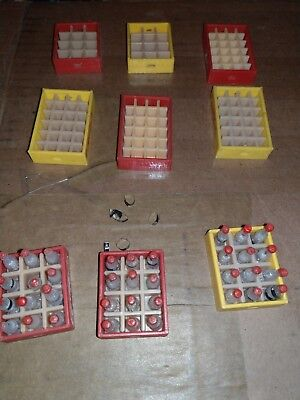 Vintage Miniature Coca-Cola Bottles Carrying Cases Crates Red Yellow Lot