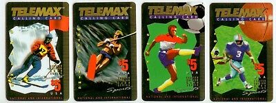 1995 Telemax Telephone Cards - Sports - 5000 Series