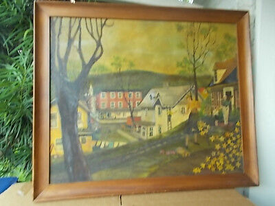 Antique Vintage Medium Signed Original Folk Art