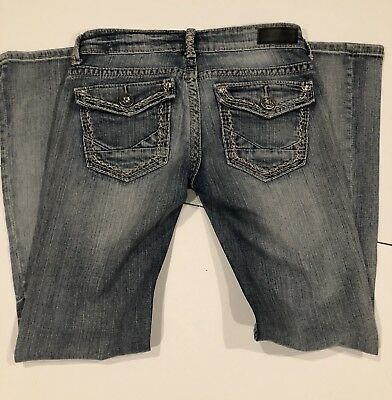 196ef811a73 New DAYTRIP Leo Bootcut Thick Stitch Bling Stretch Jeans From The Buckle  Size 27