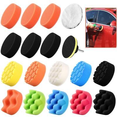 19x Polishing Pads Sponge Buff Pads Set with M10 Drill Adapter for Car Polisher