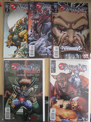THUNDERCATS : DOGS of WAR. COMPLETE 5 ISSUE WILDSTORM / DC 2003 SERIES by LAYMAN