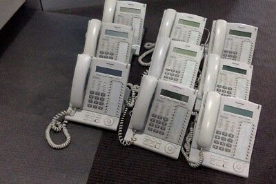 Panasonic KX-T7630 telephone system all white all good but used