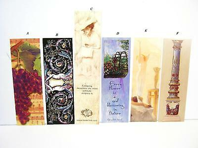 6pc SET OF QUOTABLE VICTORIAN STYLE BOOKMARKS for BOOKS DIARIES OR JOURNAL