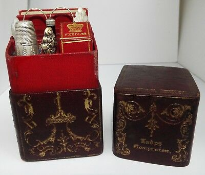 Superb Rare English Antique Georgian 1840 Solid Silver Ladies Etui Sewing Set