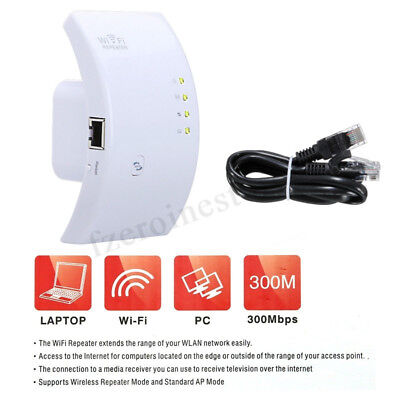 WIFI 300M Wireless N 802.11 Ripetitore AP Router Range Extender Segnale Booster