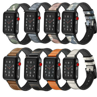 38/42mm Retro Genuine Leather iWatch Band Men Casual Strap For Apple Watch 3 2 1