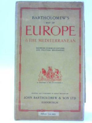 Bartholomew's Map of Europe and the Mediterranean (Anon - 1944) (ID:67144)