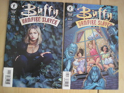 BUFFY issue 7 (1st series) : SET of COVER VARIANTS, REGULAR + PHOTO. DH, 1999