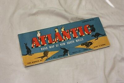 Vintage Map - Atlantic Motor Oil New South Wales, Australia