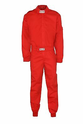 STR Race Overalls Suit Racing SFI Approved 3-2A/1 Standard RED CLEARANCE SALE M
