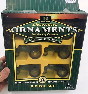 John Deere Decorative 20 Light Set Model A Tractors New in box N.O.S Christmas