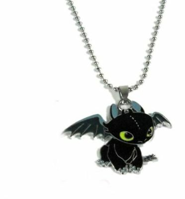 How To Train Your Dragon 2 Toothless Night Fury Metal Necklace Pendant Gift