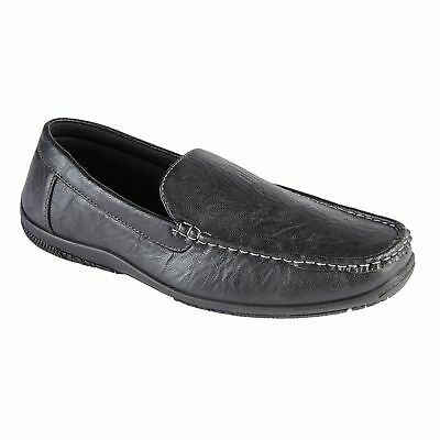 New Mens Faux Leather Slip On Loafers Casual Walking Comfort Flat  Shoes Uk 7-12