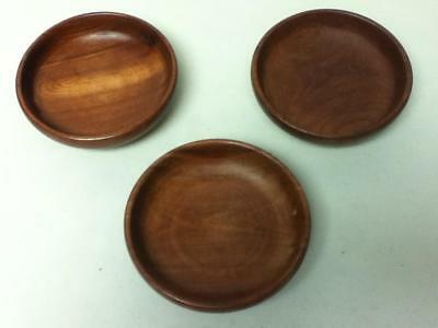Vintage, Handcrafted, Mahogany, Caribe Wood Products , 3pc  Set Wooden Bowls