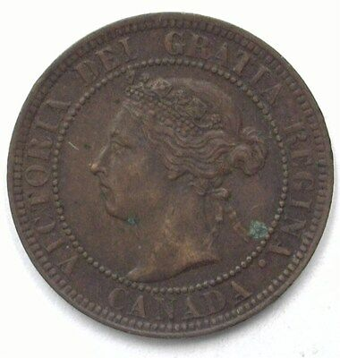 Canada 1901 Large Cent  Uncirculated Brown