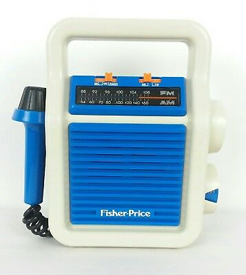 Vintage 1984 Fisher Price Sing-Along Am/fm Radio With Mic Microphone #3805