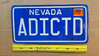 License Plate, Nevada, Great Personalized Vanity: ADICTD, Addicted (to Pl8s!)