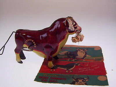 "Gscom 1938 "" Ferdinand The Bull"" Marx, W/u Ok, Very Good  !"