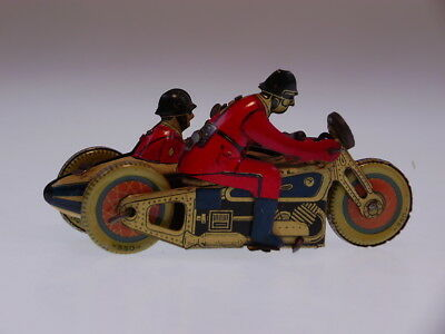 """GSMOTO PENNY TOYS """"MILITARY RIDER WITH SIDE CAR"""" SFA FRANCE 10 cm, BESPIELT/USED"""