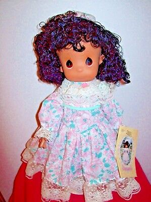 Precious Moments 16 Inch 1993 Cloth & Vinyl Doll With Stand