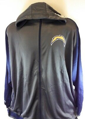 Top NEW MENS NFL Majestic Chargers Charcoal Grey Screen Printed Pullover