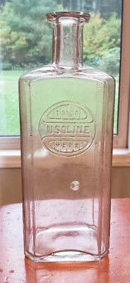 Vintage Usoline Embossed Glass Bottle Tonic Cure All Quack Medicine Apothecary