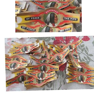 Large Quanity of Nappanee Tobacco Pipe of Peace Cigar Labels