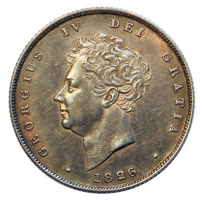1826 Shilling, George Iv Bare Head
