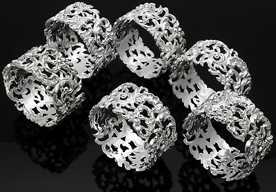 Set Of 6 Sterling Silver Napkin Rings -  Sheffield 1998 - Hugh Crawshaw