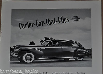 1941 BUICK LIMITED advertisement, Buick ad, large sedan photo, woman driver