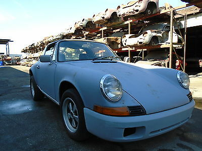1972 Porsche 911 2DR 1972 Porsche 911 S Targa Project Car for Restoration Rare S Sportomatic