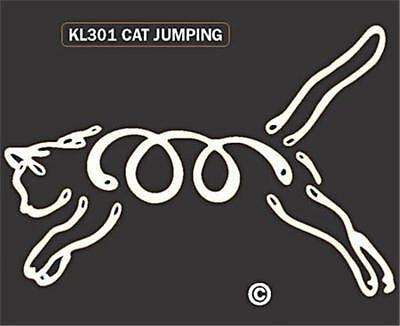 Jumping Cat Car Home Window Decal Sticker Unique Kitten Kitty